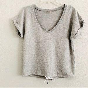 CALIA by Carrie Underwood gray vneck sweatshirt S